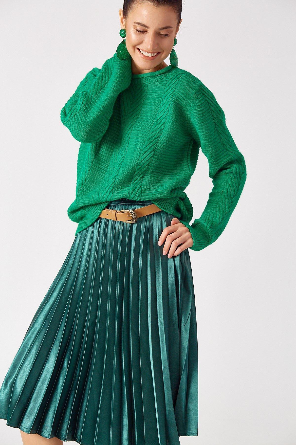 Triko Kazak Yeşil