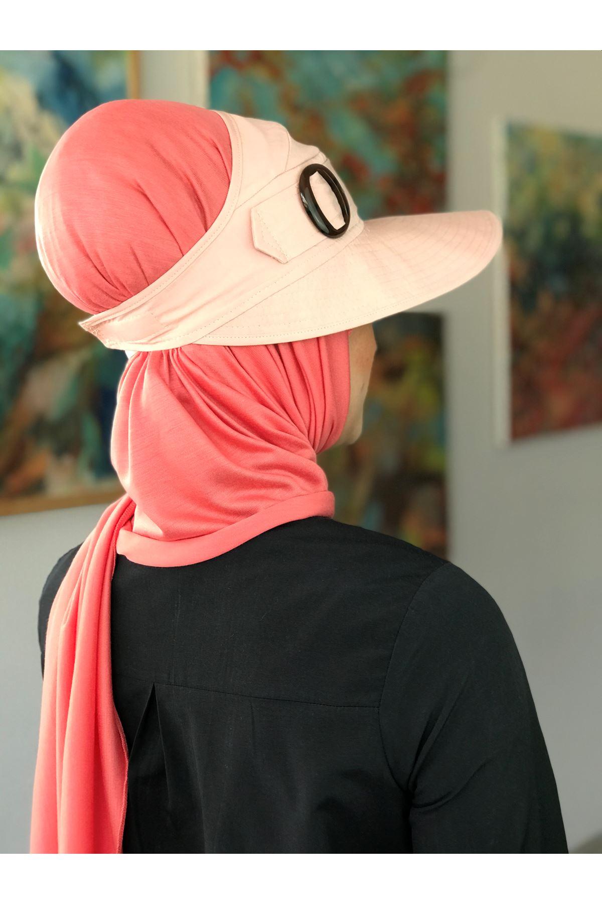 Pudra Rengi Kadın Şapka