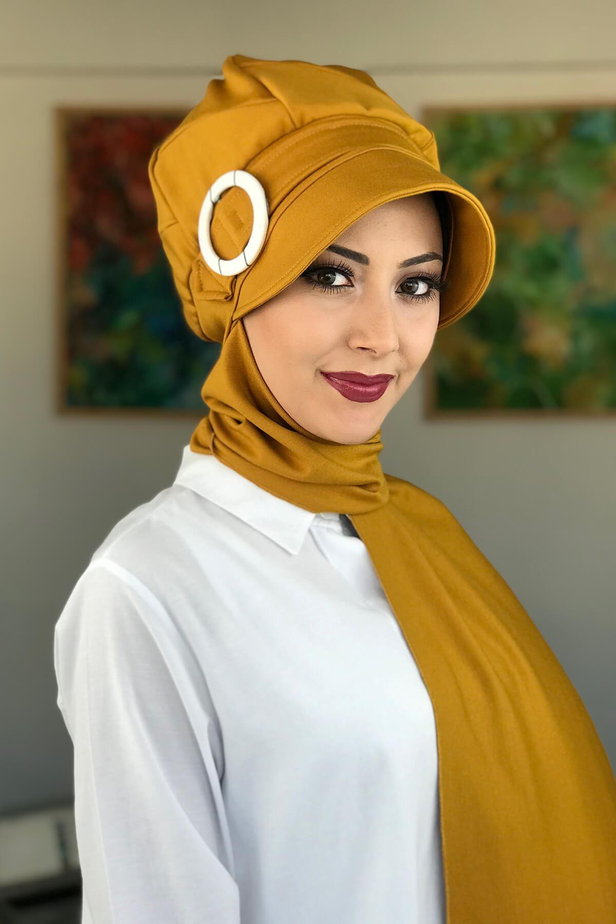 Bal Rengi Kadın Şapka